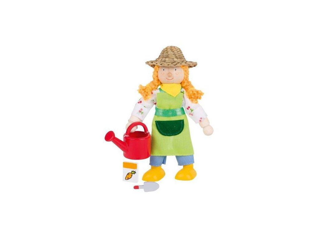 Panenka do domečku – farmářka se slamákem