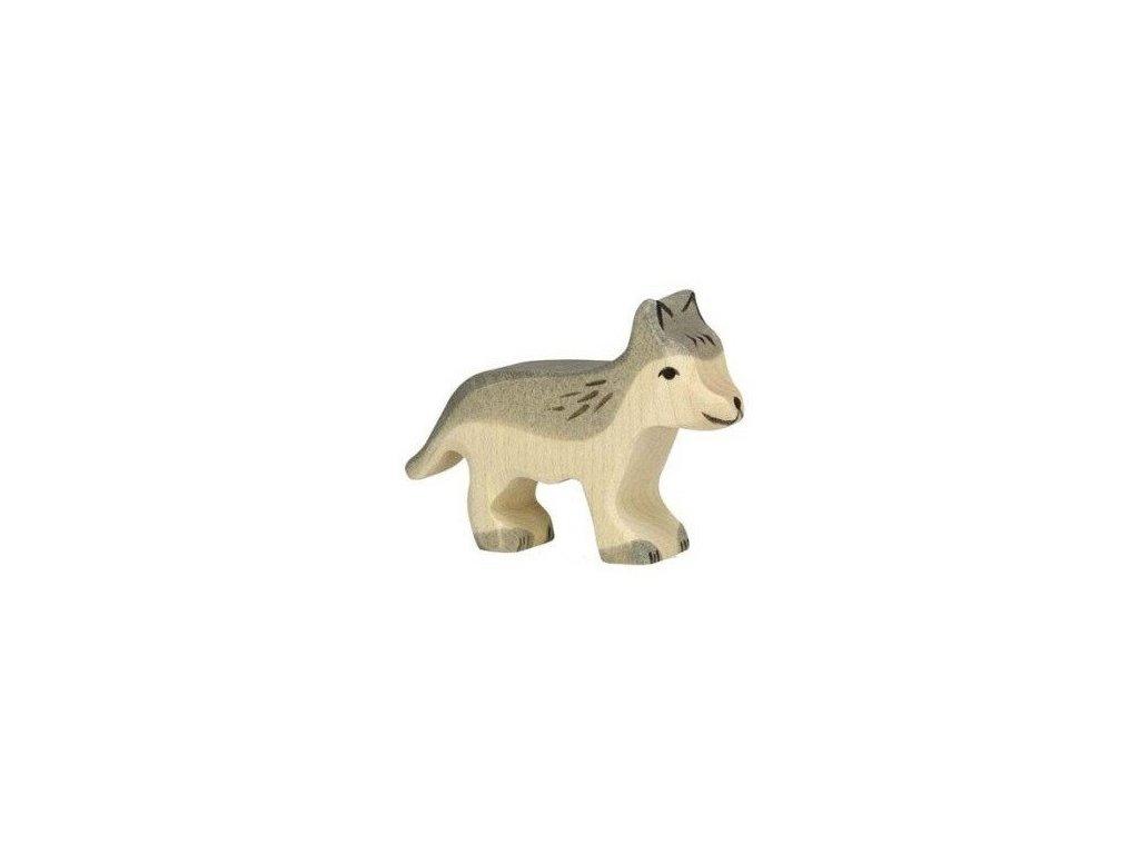 Vlk malý – dřevěné zvířátko