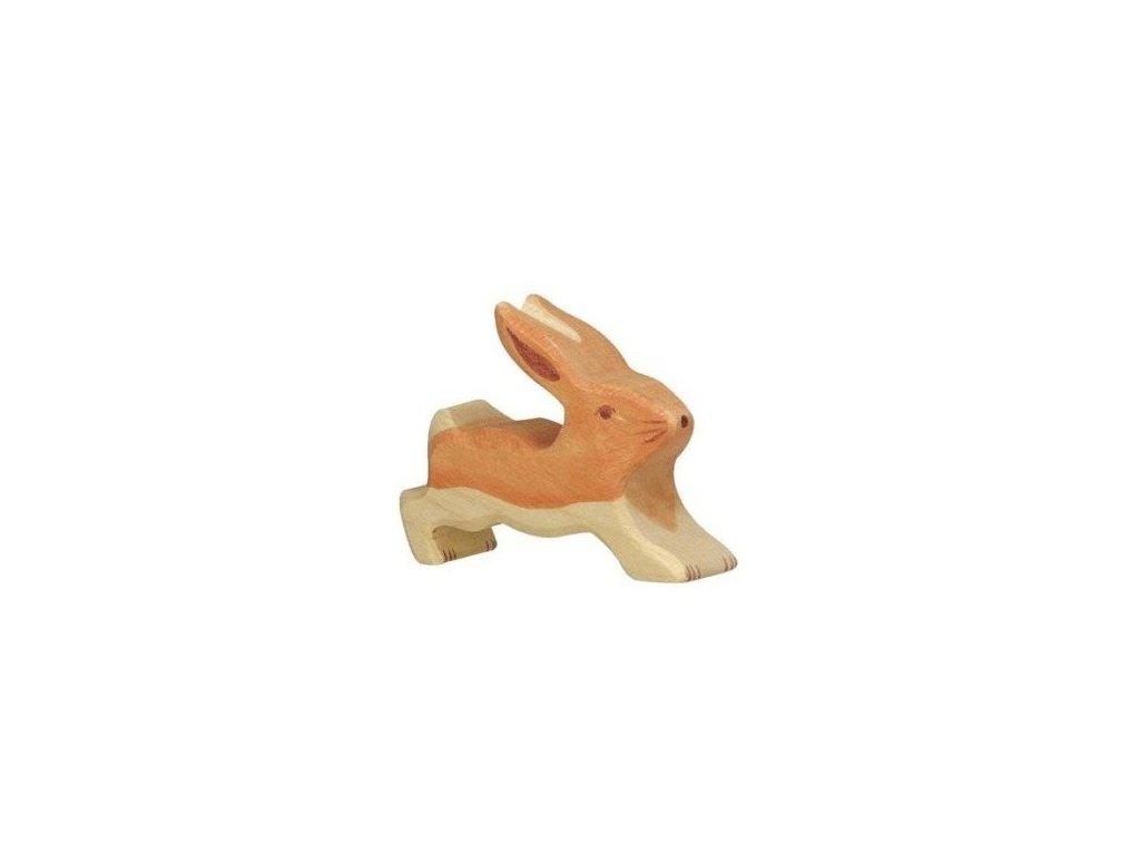 Zajíček malý, běžící – dřevěné zvířátko