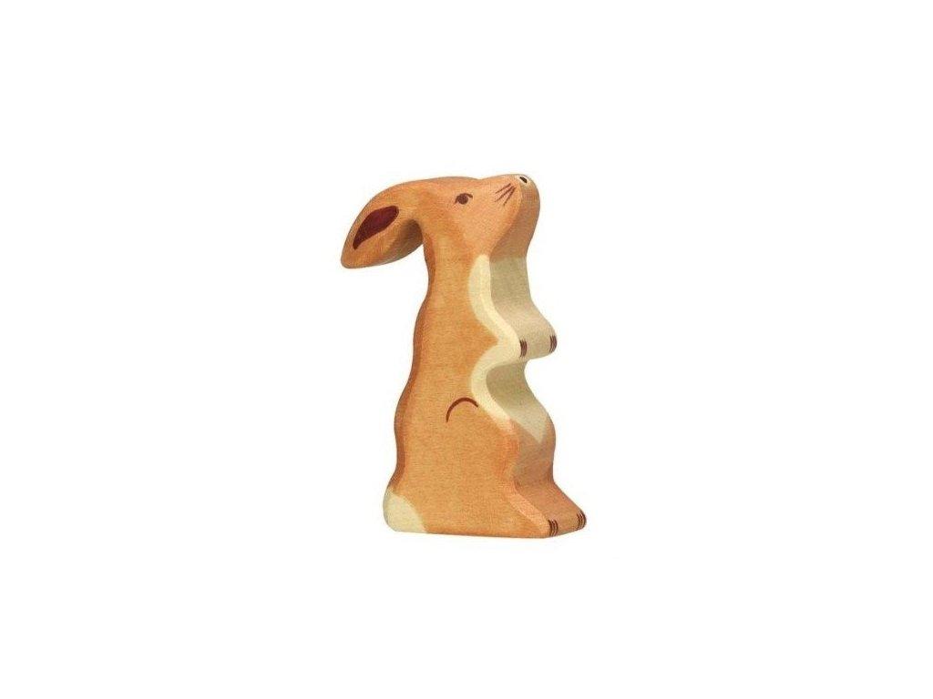 Zajíček vzpřímený – dřevěné zvířátko