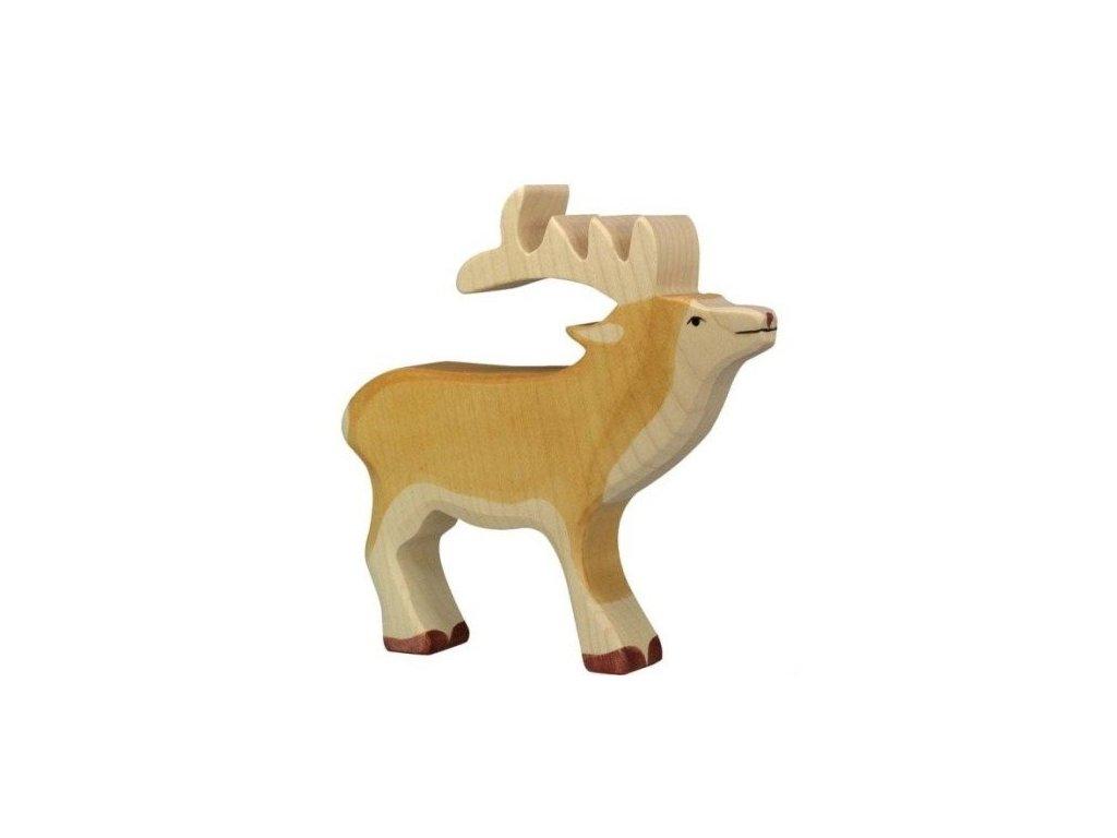 Jelen – dřevěné zvířátko