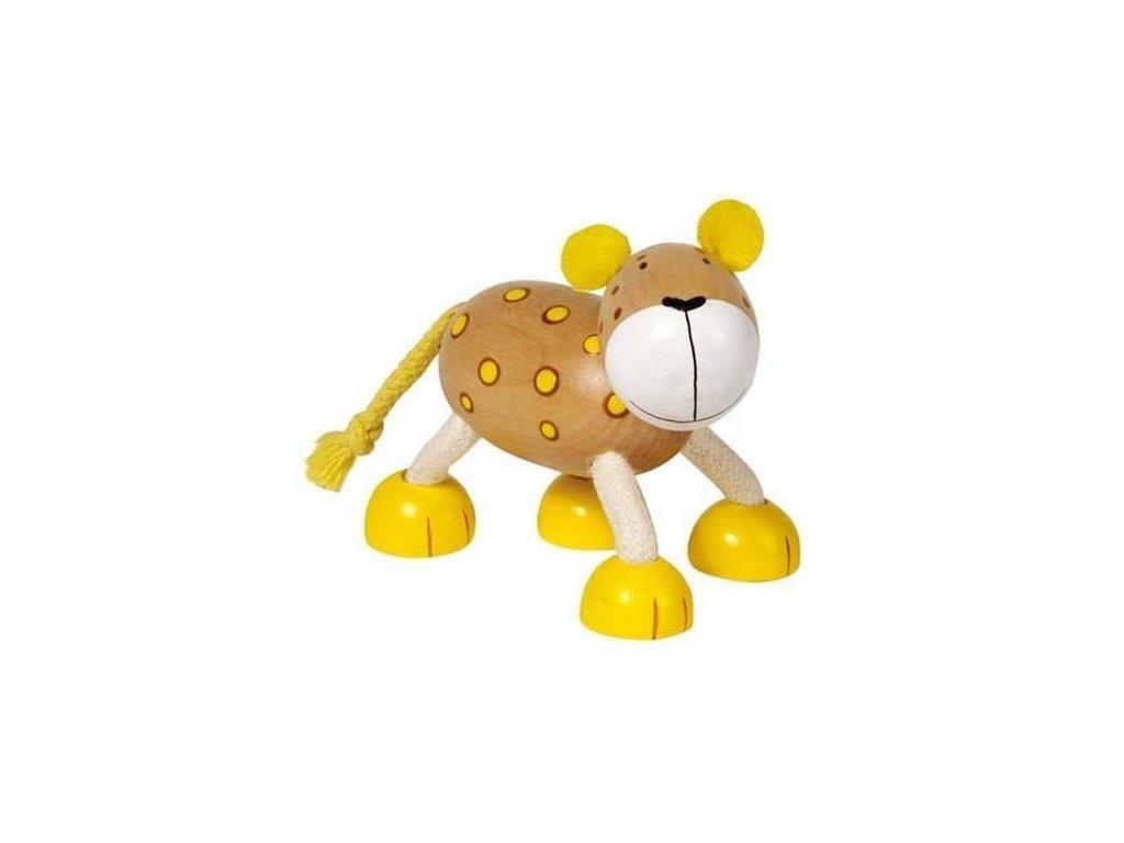 Leopard - dřevěné zvířátko pro děti (doprodej)