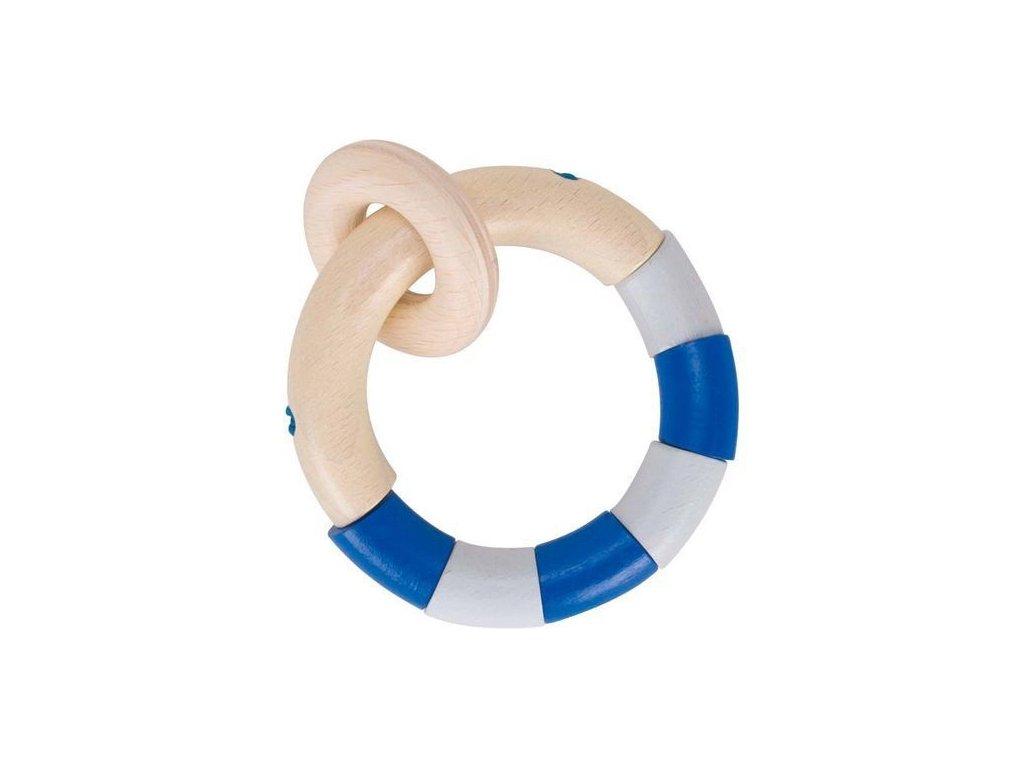 Kroužek s modrými dílky – hračka do ruky