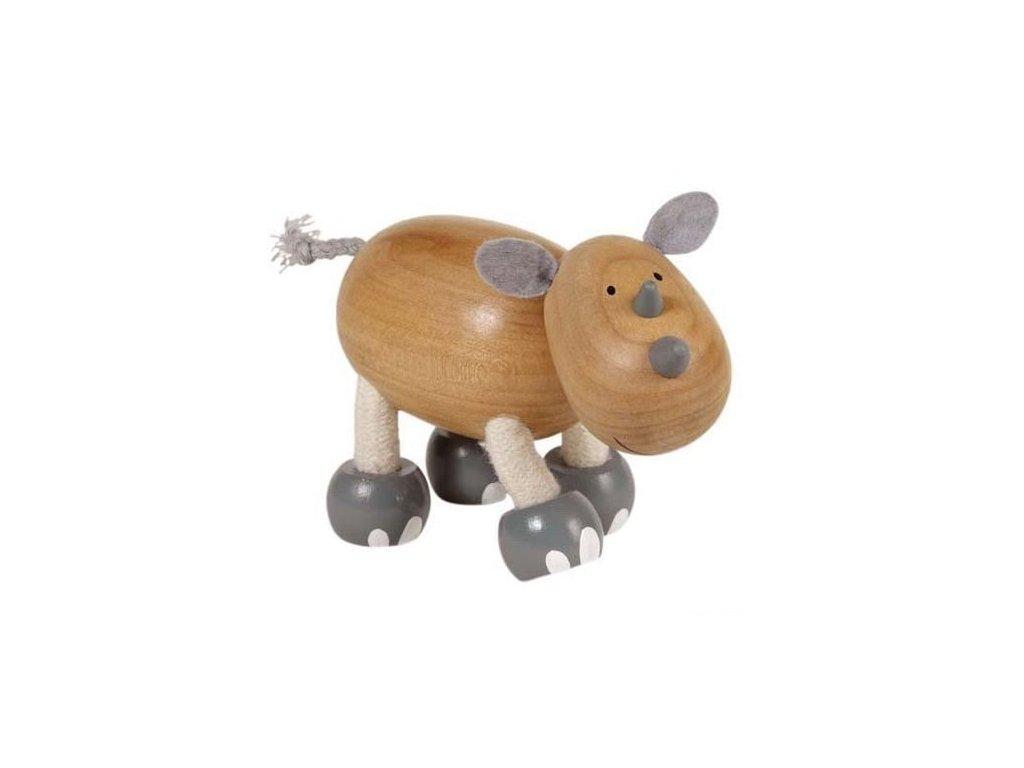 Nosorožec - dřevěné zvířátko pro děti (doprodej)