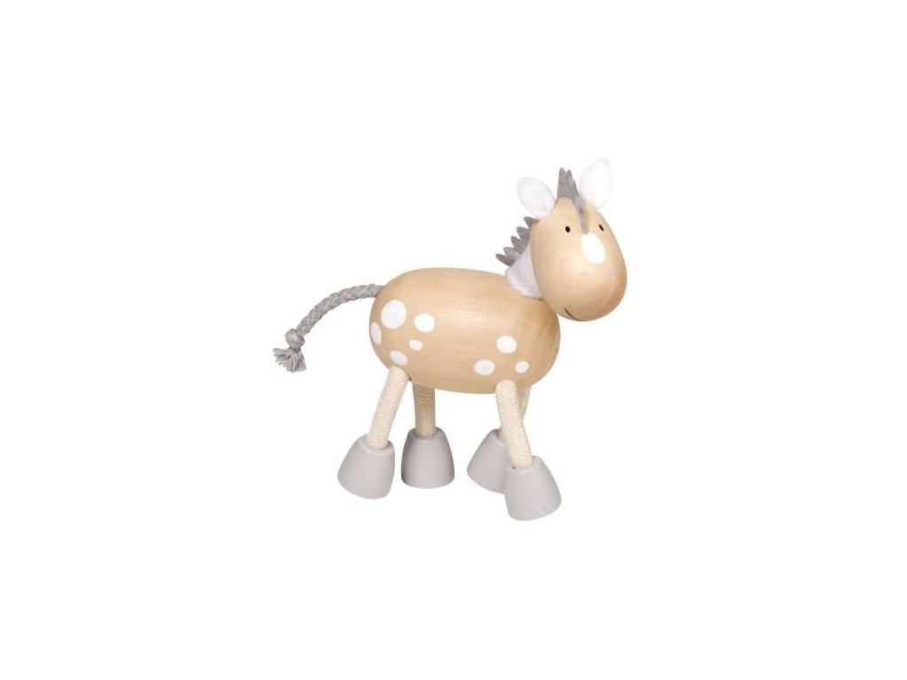 Koník bělouš - dřevěné zvířátko pro děti (doprodej)