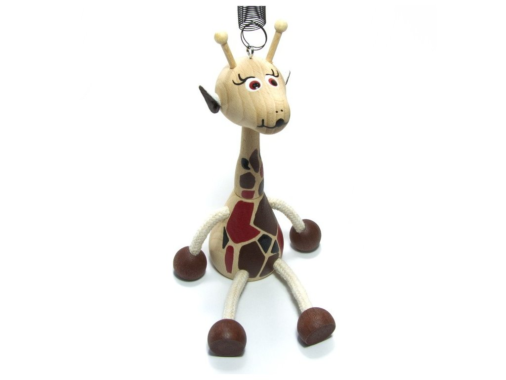 Mládě žirafa na pružině