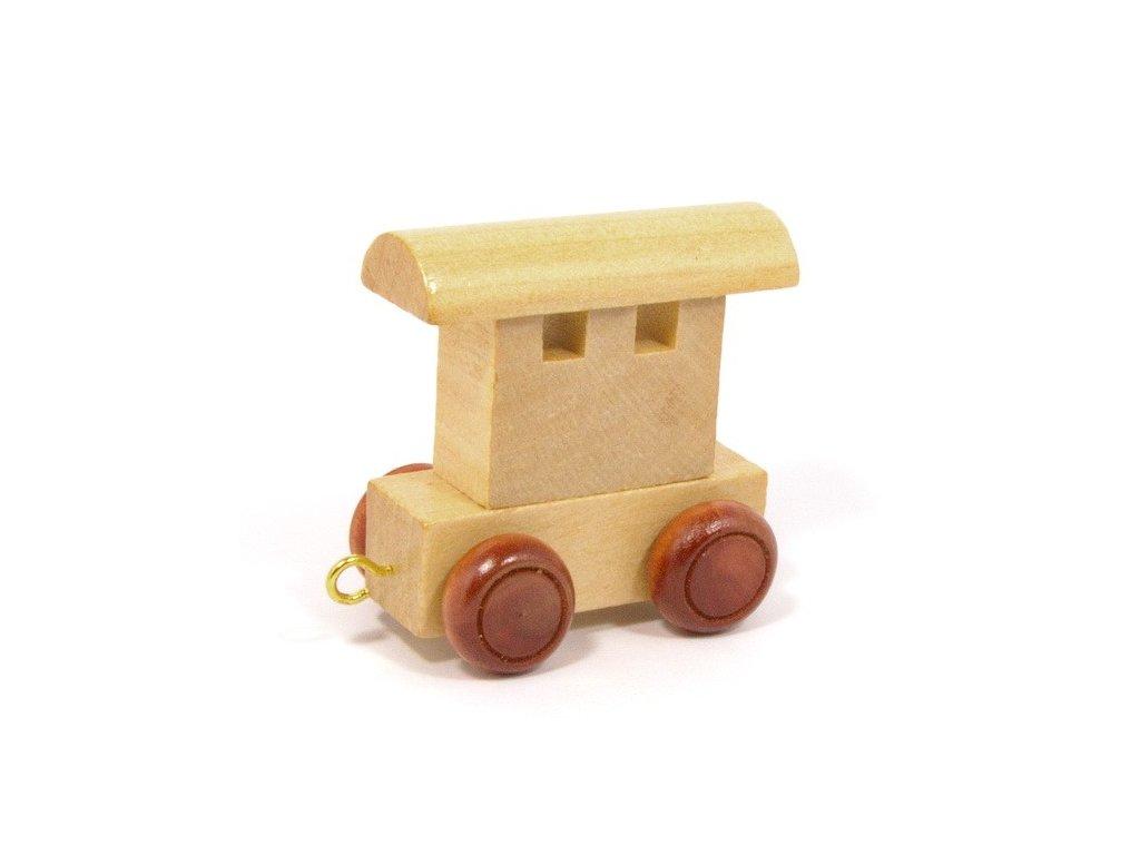 Zadní vagónek - vlak s písmenky