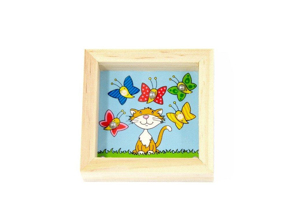 Balancovník - Kočička s motýli
