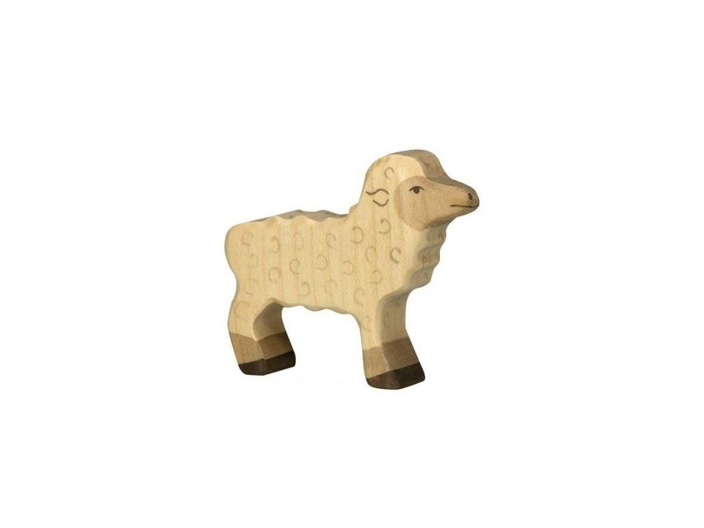 Jehňátko – dřevěné zvířátko