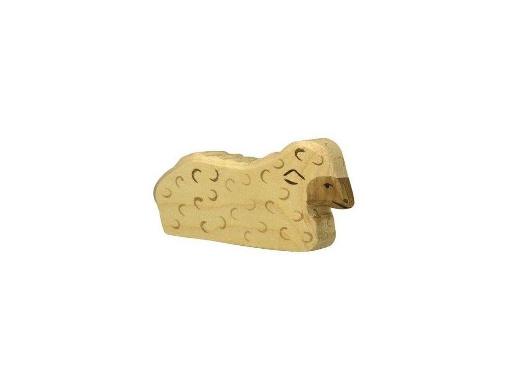Ovečka ležící – dřevěné zvířátko