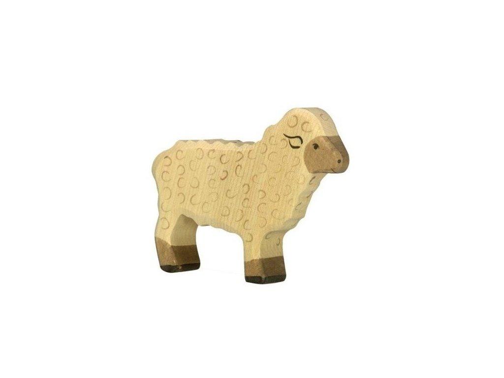 Ovečka stojící – dřevěné zvířátko