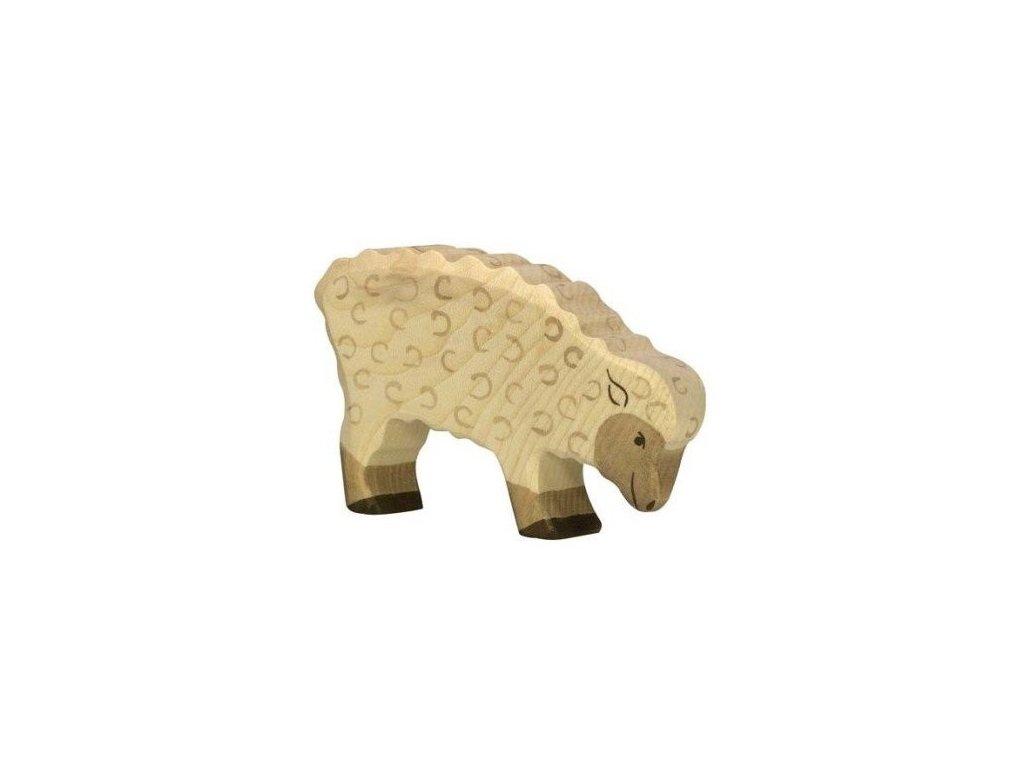 Ovečka na pastvě – zvířátko ze dřeva