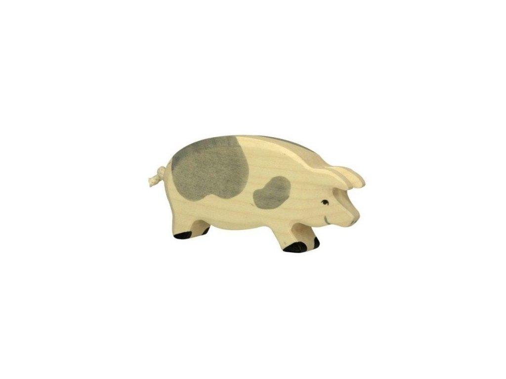 Prasnice strakatá – dřevěné zvířátko