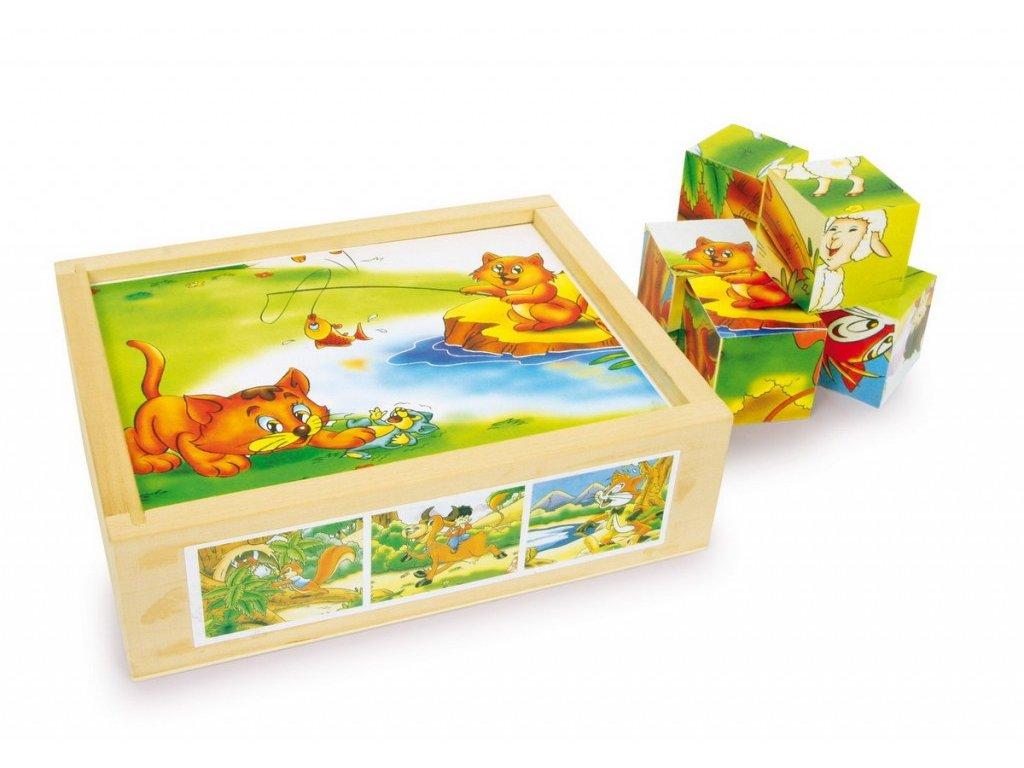Zvířátka - kostky - 12 ks