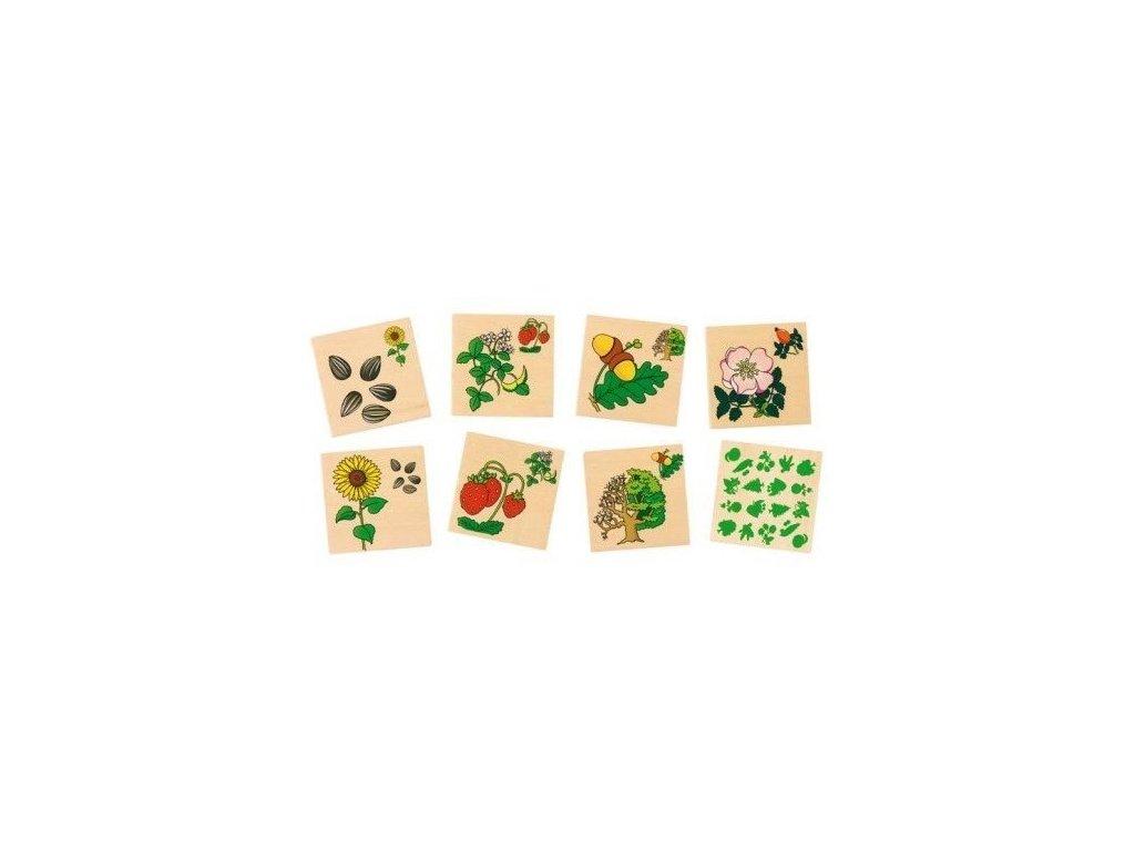 Dřevěné pexeso – Rostliny, 32 díly (doprodej)
