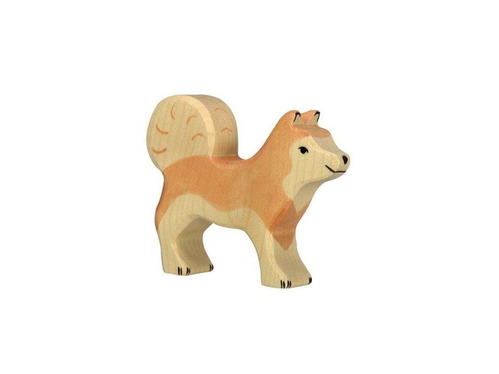 Sibiřský husky – zvířátko ze dřeva