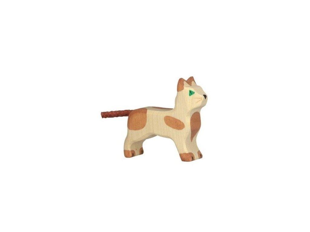 Kočička stojící – vyřezávaná dřevěná hračka