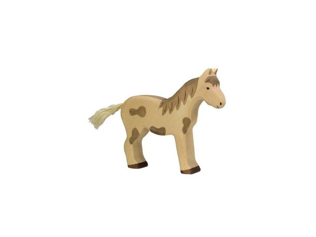 Koník strakatý, stojící – dřevěné zvířátko