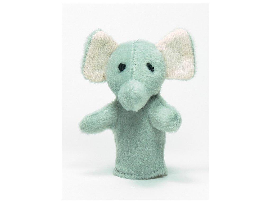 026 - Slon - prstový maňásek