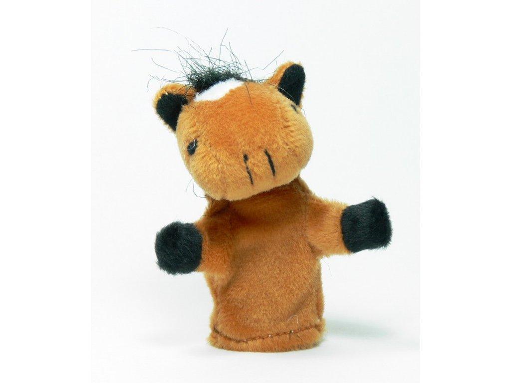 026 - Kůň sv. hnědý - prstový maňásek