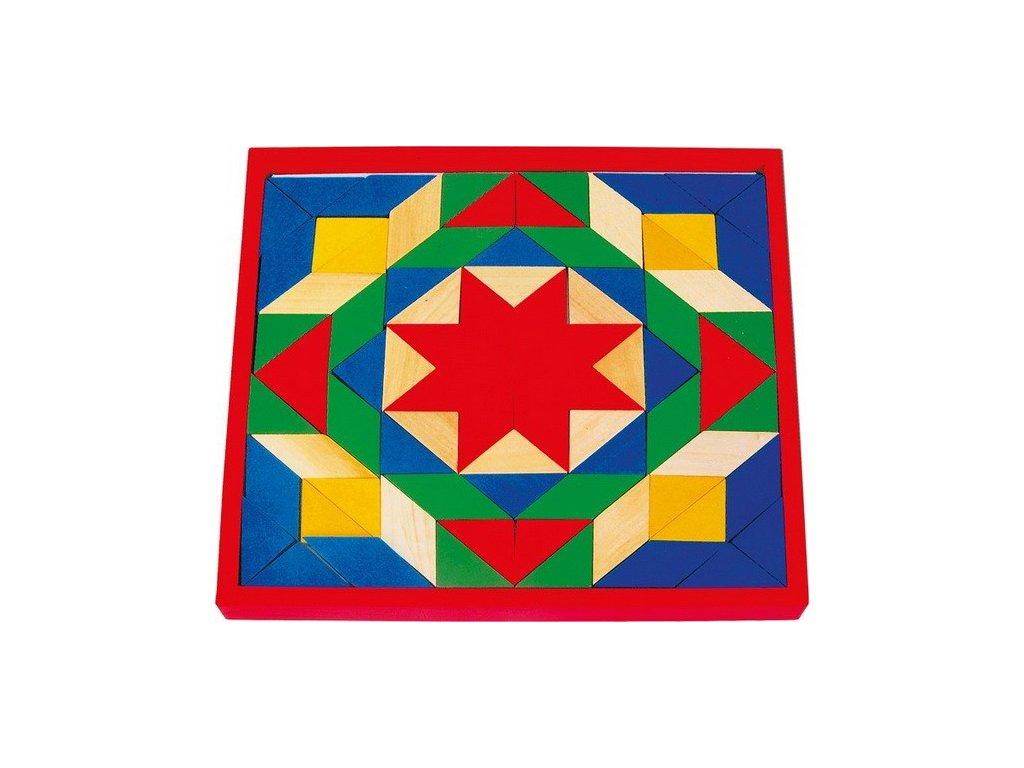 Mozaika Hvězda červená