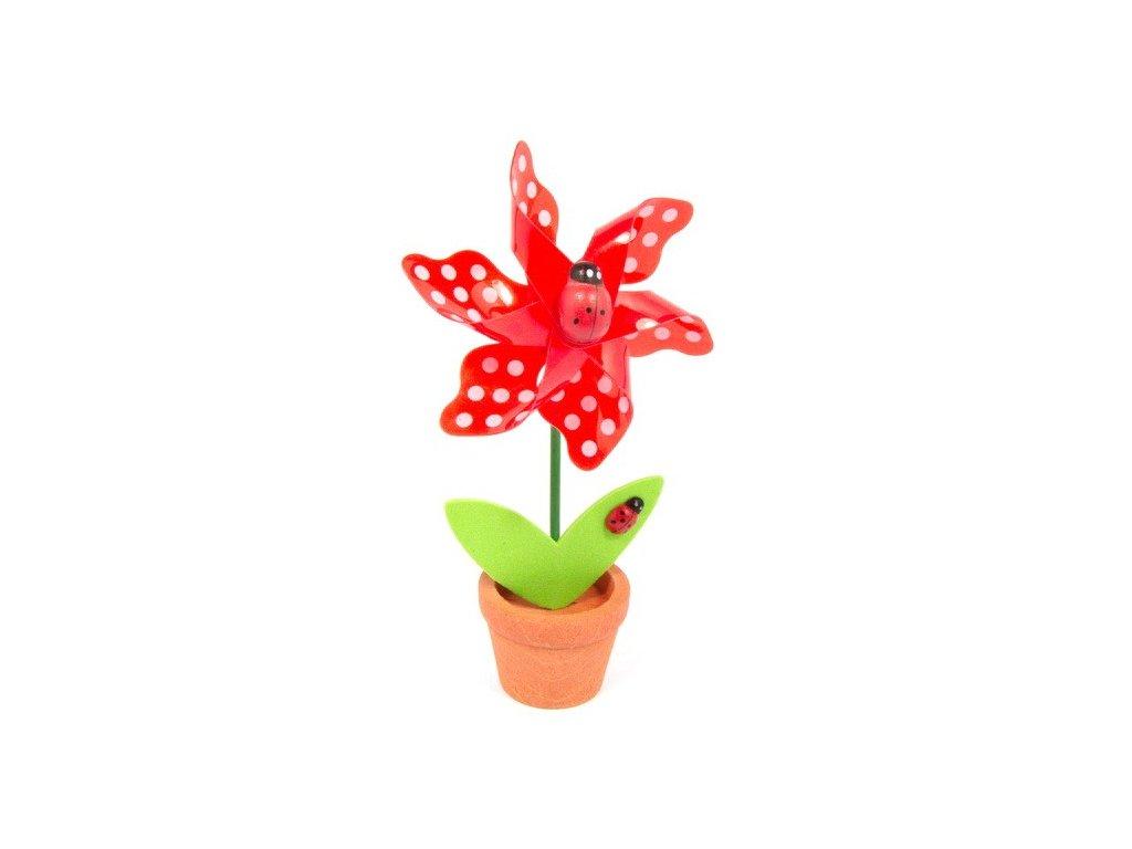 Červená květina - větrník