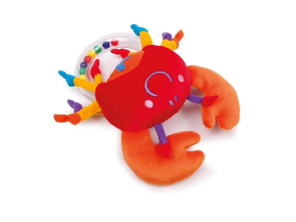 Krab s kroužkem a chrastítkem (doprodej)