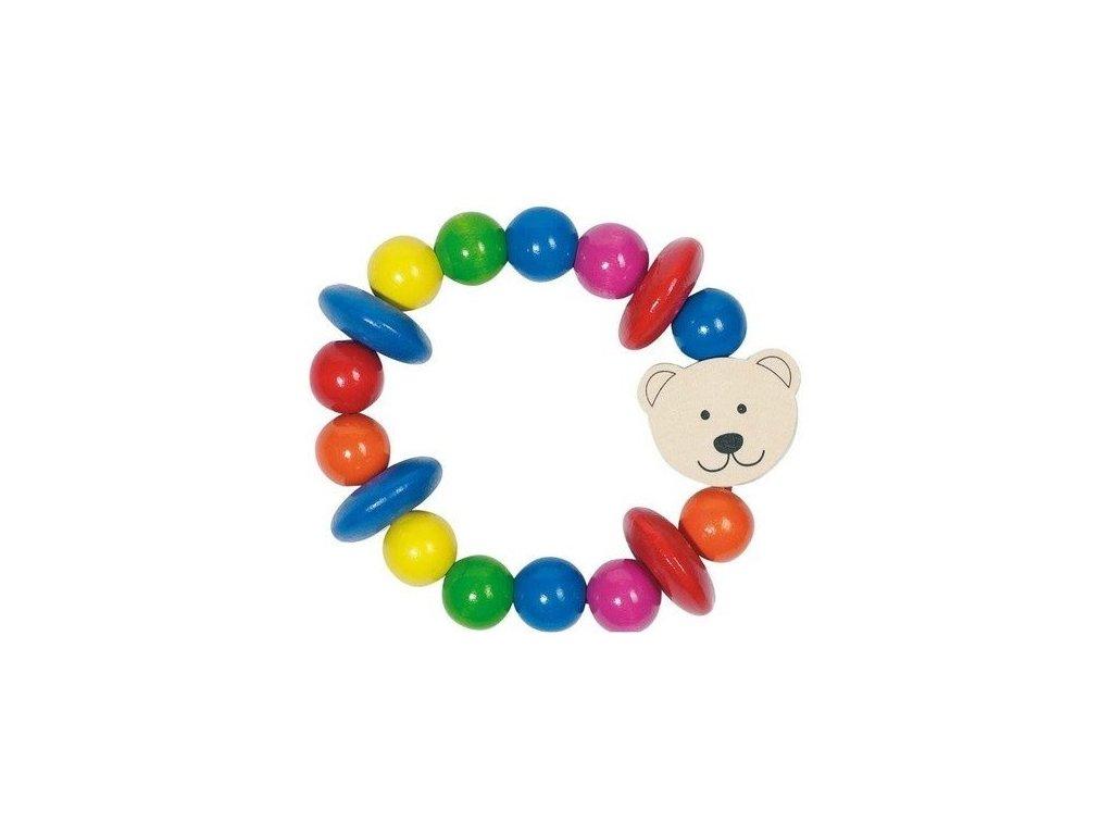 Medvídek – dřevěná hračka do ruky