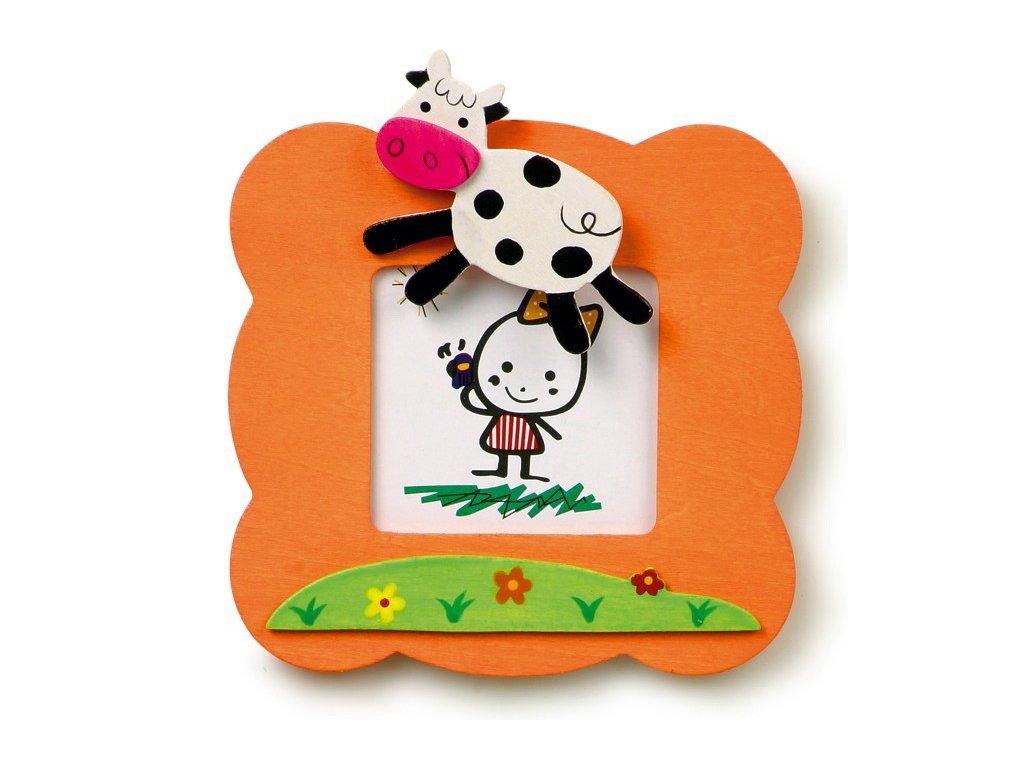 028 - Oranžový rámeček na foto