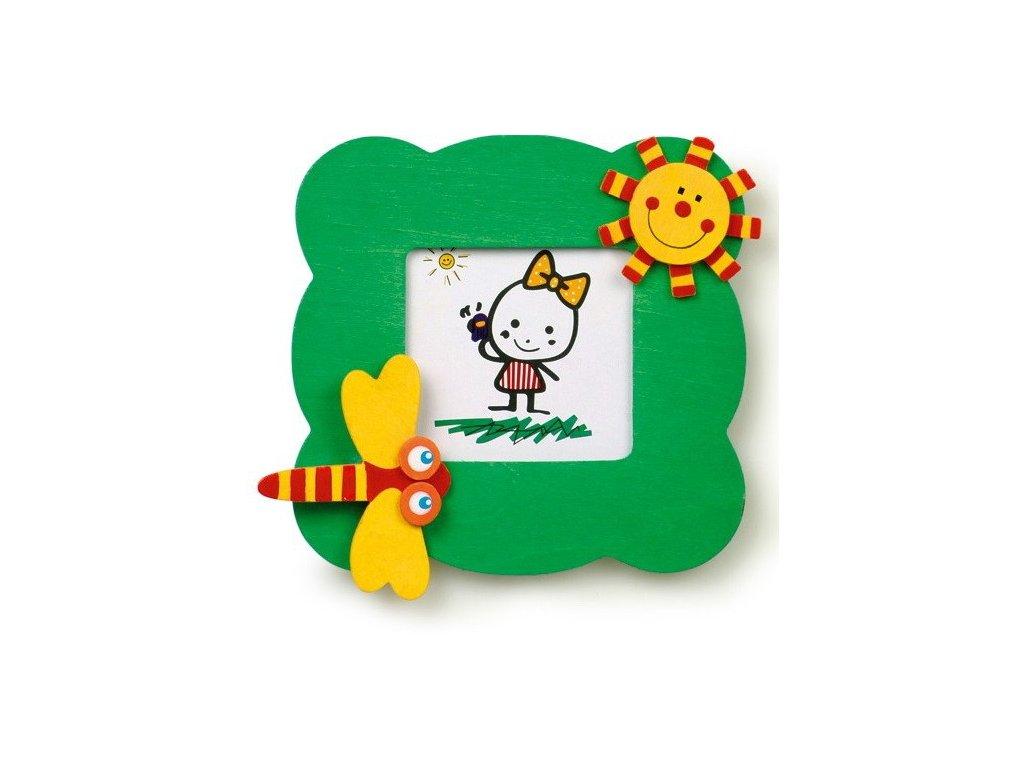 028 - Tmavě zelený rámeček na foto