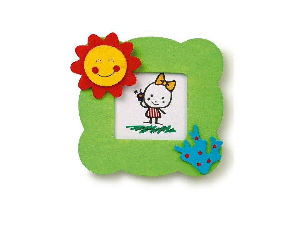028 - Světle zelený rámeček na foto