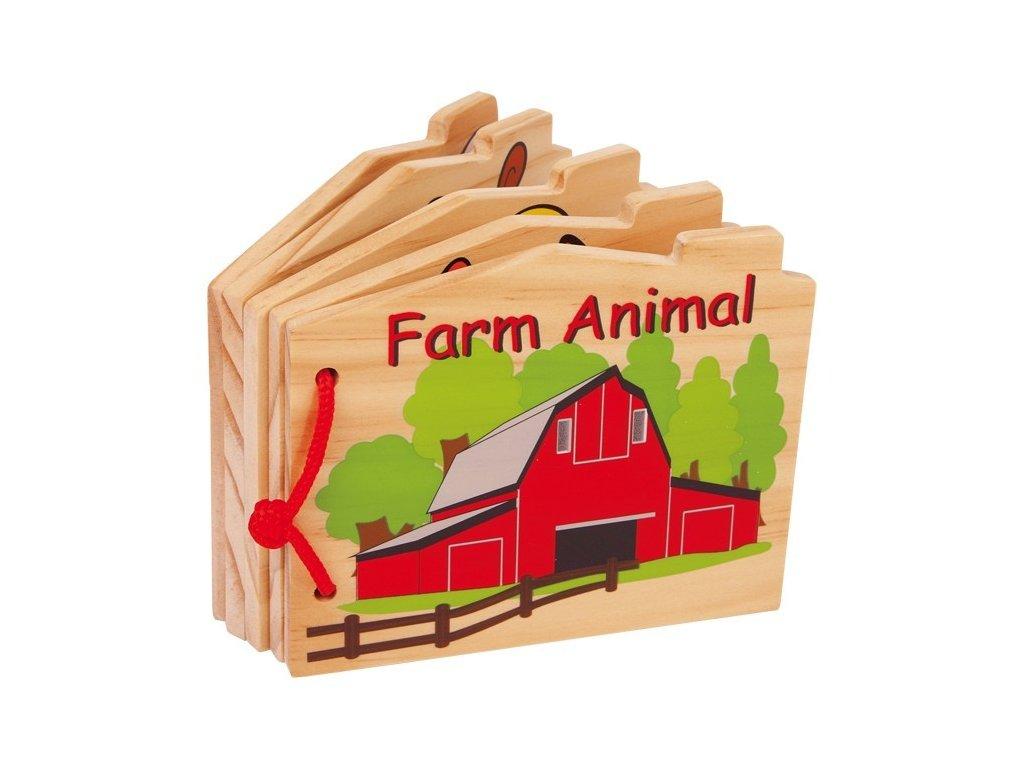 Dřevěná knížka - Farma