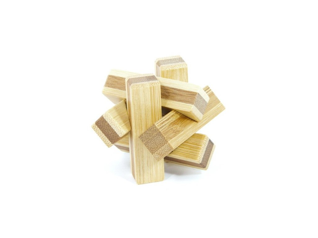 Uzel - hlavolam z bambusu