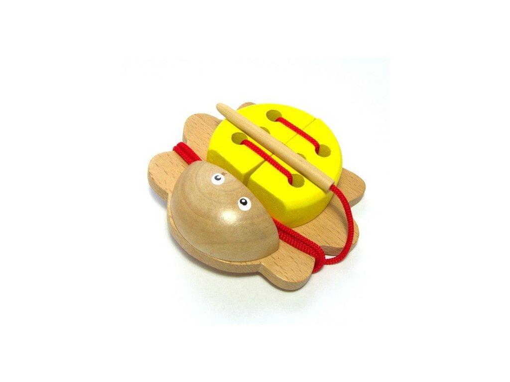 Brouček na provlékání - žlutý