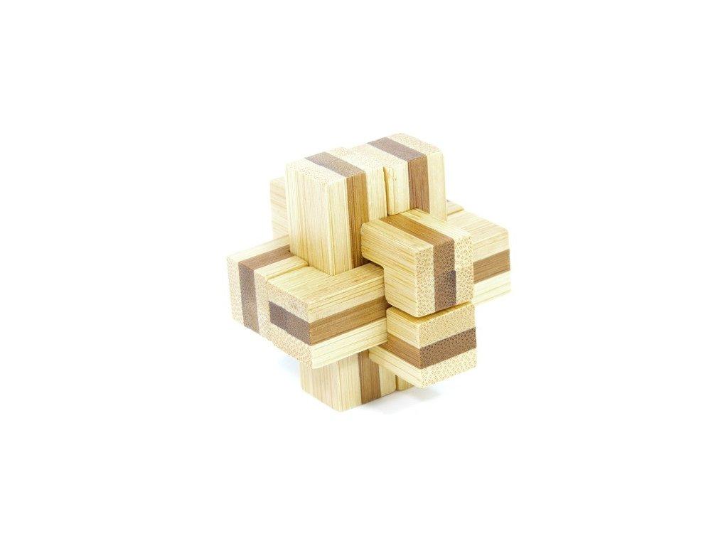 Kříž - hlavolam z bambusu