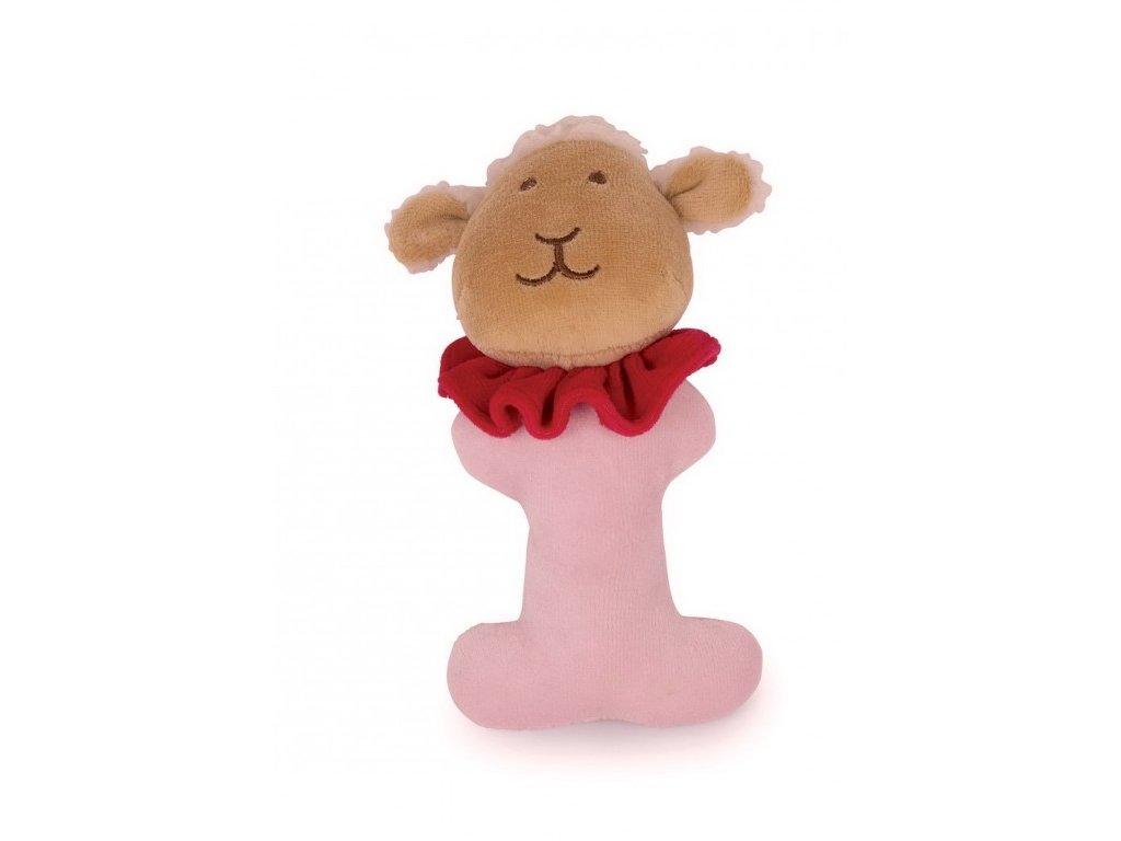 Ovečka - plyšové chrastítko (doprodej)