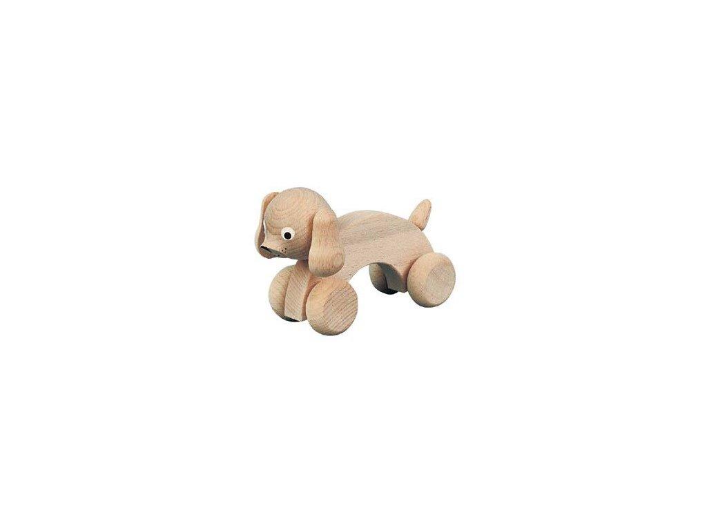 Dřevěný pes přírodní