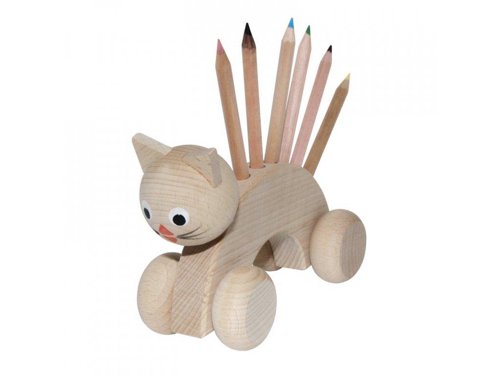 tužkovník kočka na kolečkách přírodní