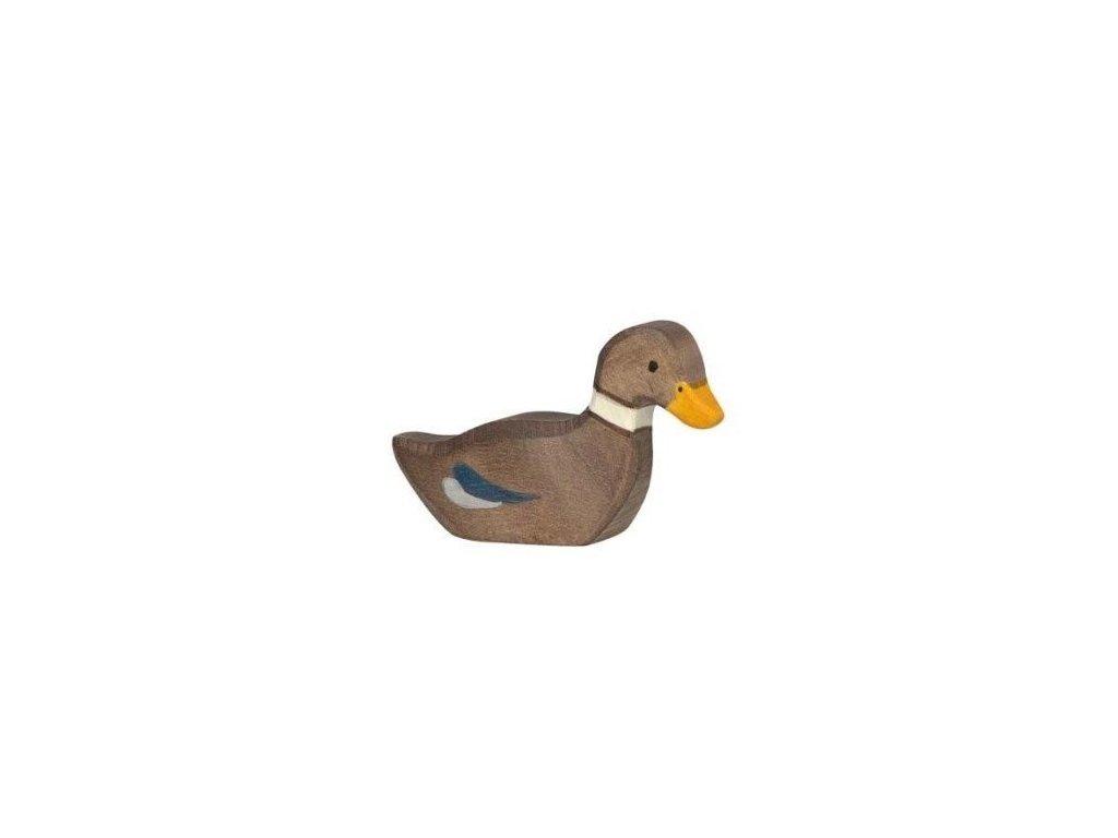 Kačenka plovoucí – vyřezávaná dřevěná hračka