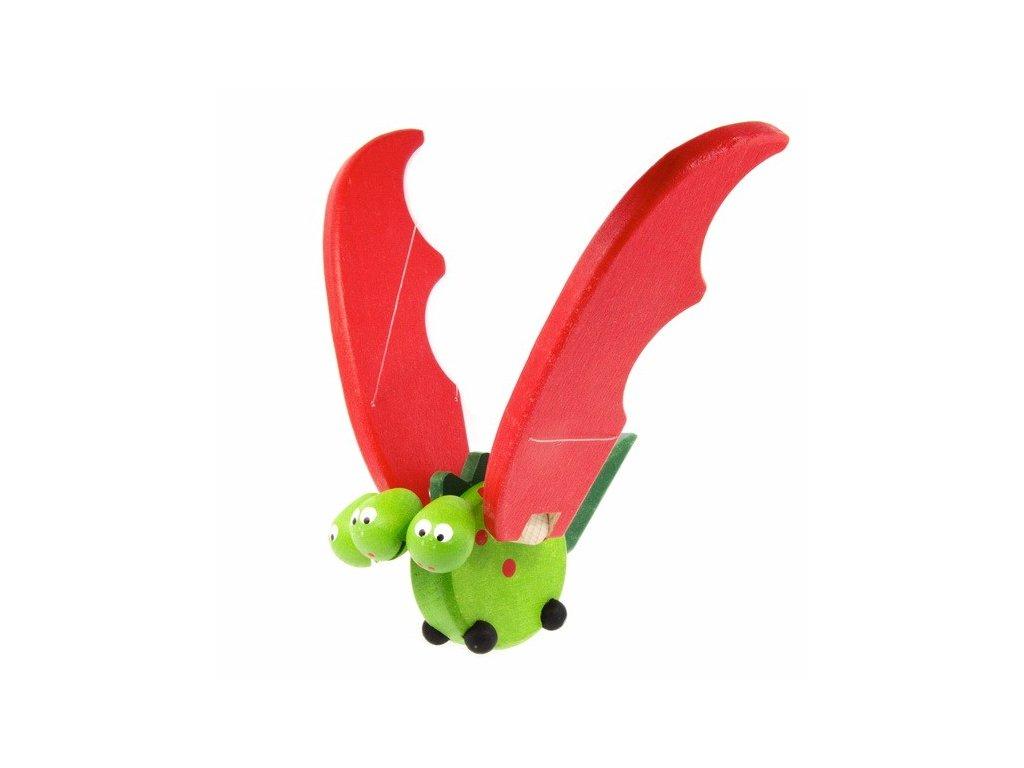 Létací trojhlavý drak - zelený