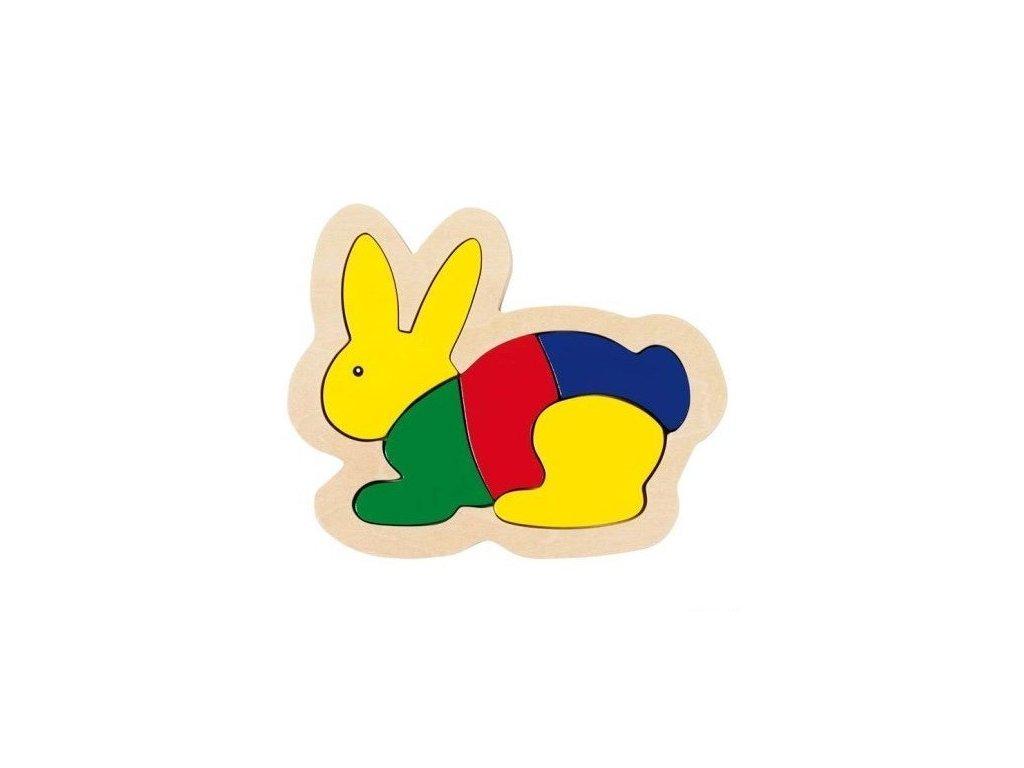 Dřevěné puzzle v rámečku – Zajíc