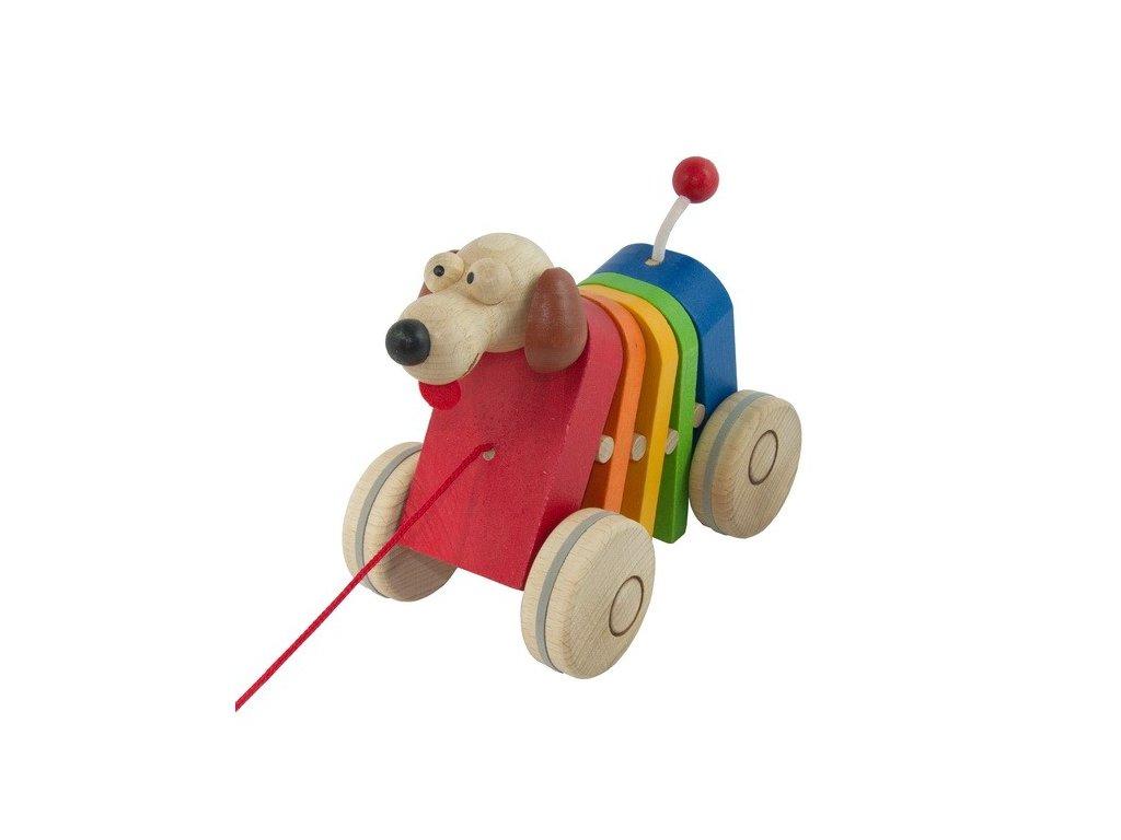 Tahací pes barevný - klapací