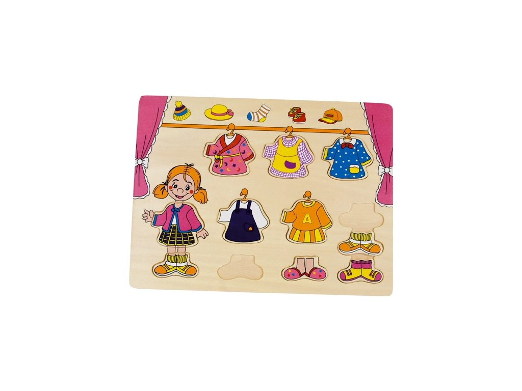 Puzzle šatník holčičky