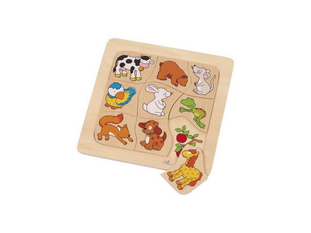 Dřevěné puzzle – Kdo co jí?