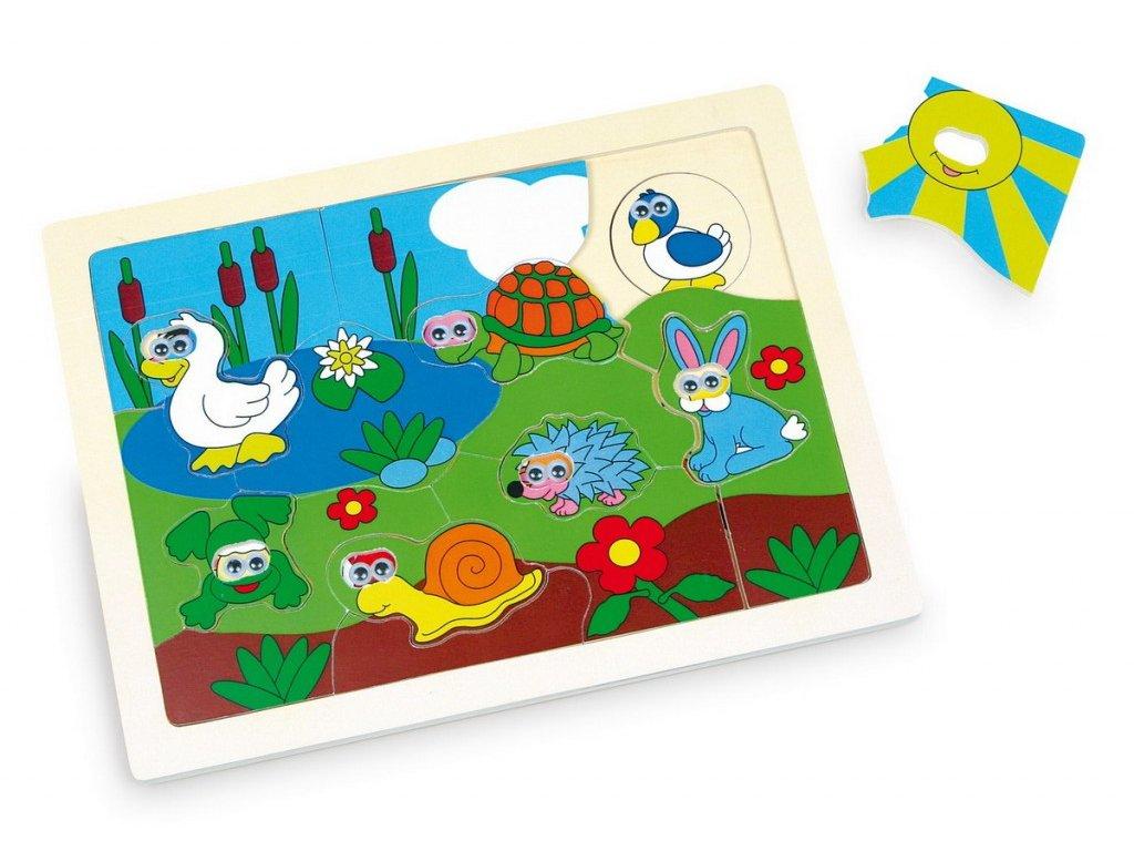 Puzzle - zvířátka na louce (doprodej)