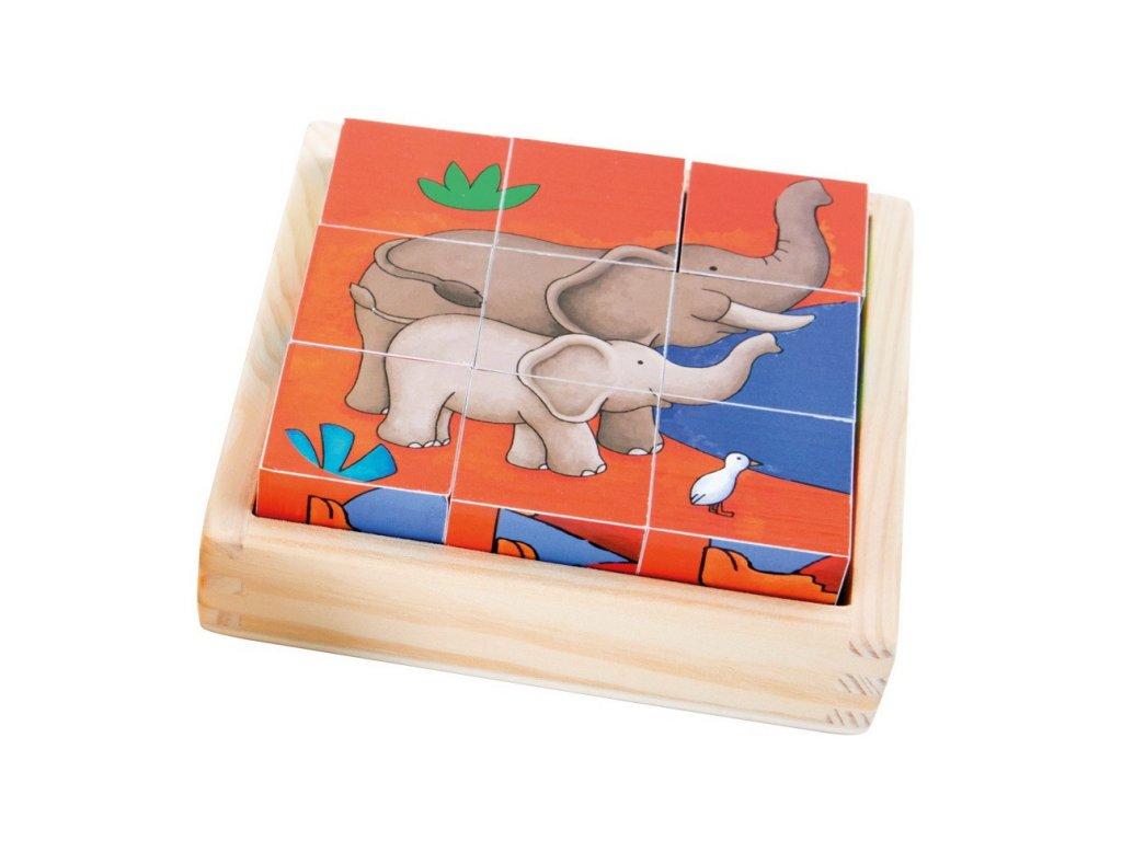 Dřevěné kostky - ZOO