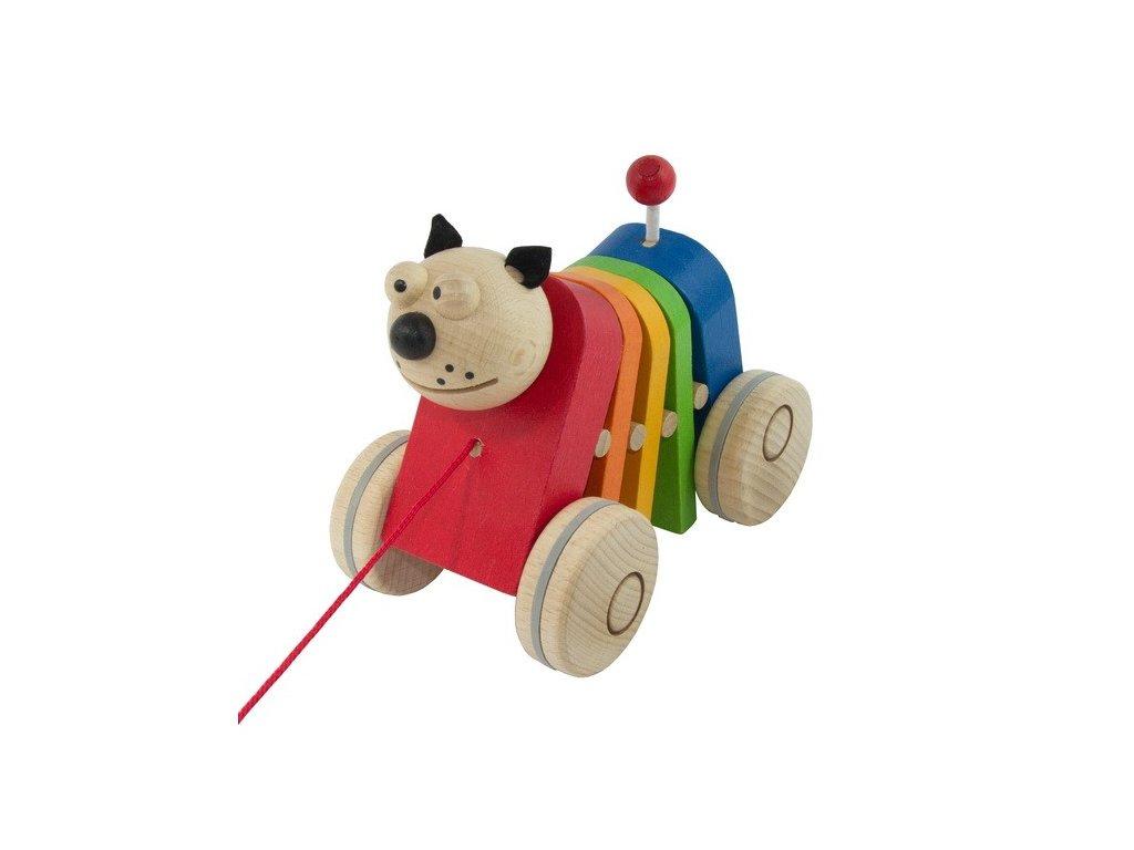Tahací kočka barevná - klapací