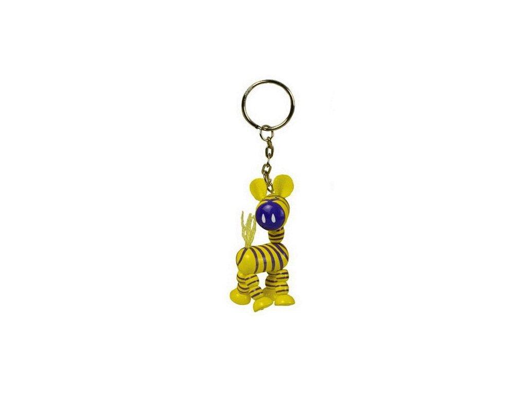 002 - přívěsek - Zebra žlutá