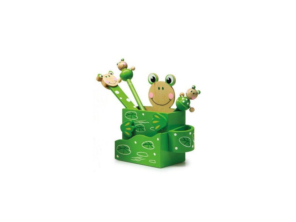 Stojánek na psací potřeby - Žabka