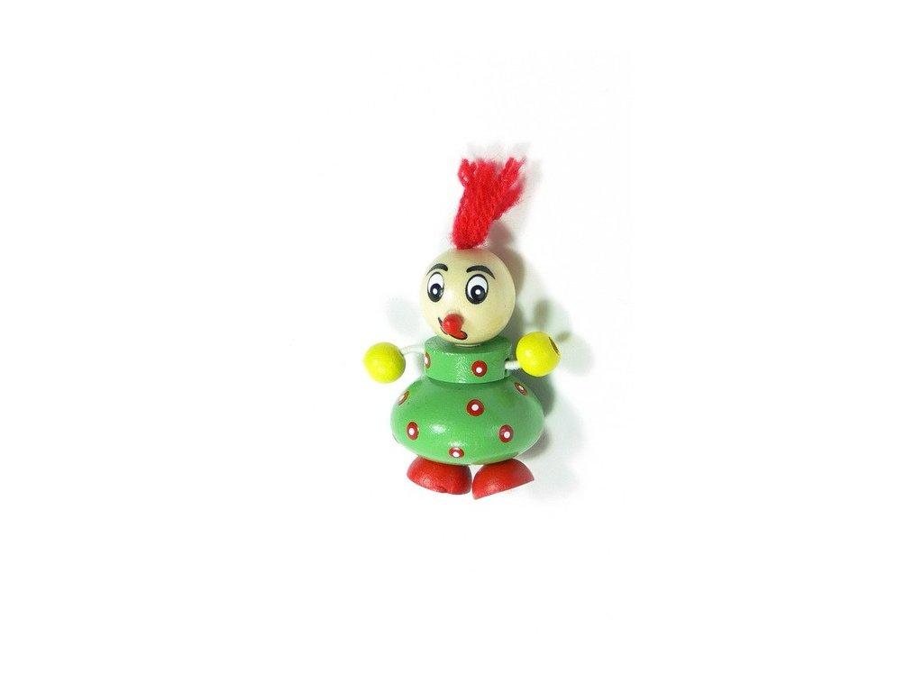 Magnetka - Klaun zelený (doprodej)